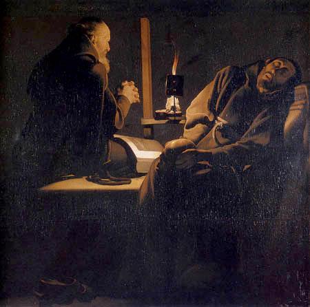 Georges de la Tour - Frenzy of holy Francis