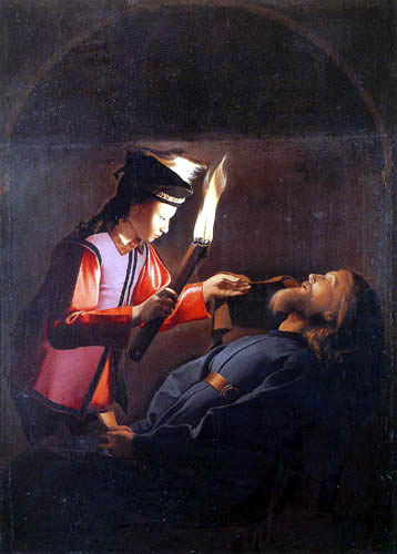 Georges de la Tour - The body of St. Alexius