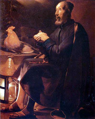Georges de la Tour - The tears from St. Petrus