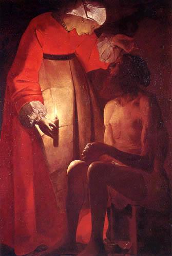 Georges de la Tour - Hiob and his woman