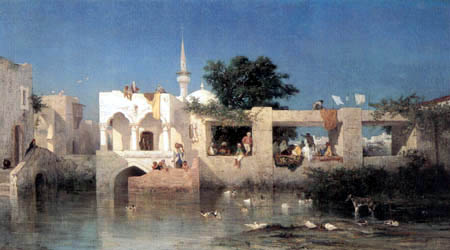 Charles Emile Vacher de Tournemine - Turkish houses near Adalia