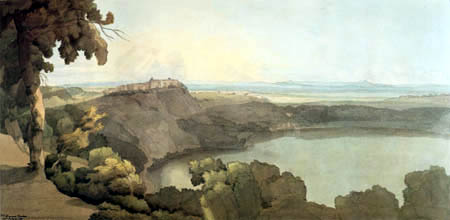 Francis Towne - Lake Albano with Castel Gandolfo