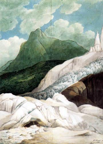Francis Towne - Die Quelle des Arveyron