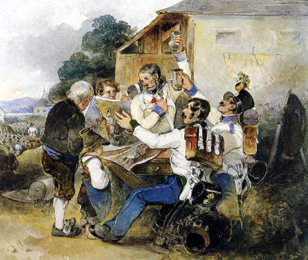 Friedrich Treml - Soldiers and picture salesman