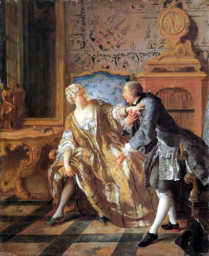 Jean-François de Troy - Das Strumpfband