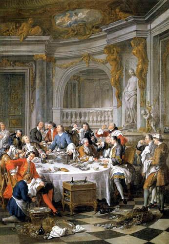 Jean-François de Troy - Die Austernmahlzeit