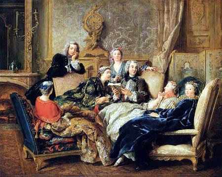 Jean-François de Troy - Die Molièrelesung