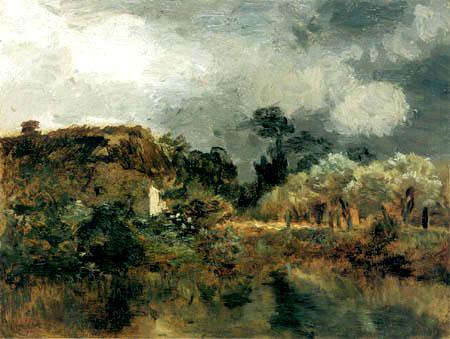 Constant Troyon - Landscape, Study