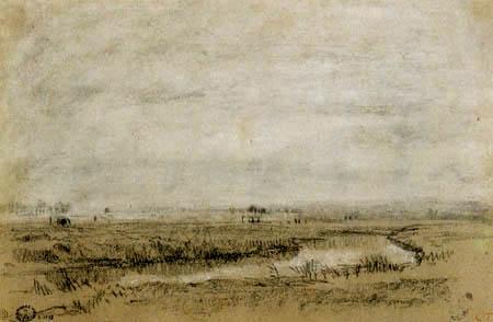 Constant Troyon - River landscape, Tocque-Tal