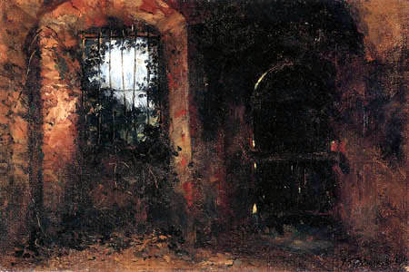Wilhelm Trübner - Basement window in the Castle of Heidelberg