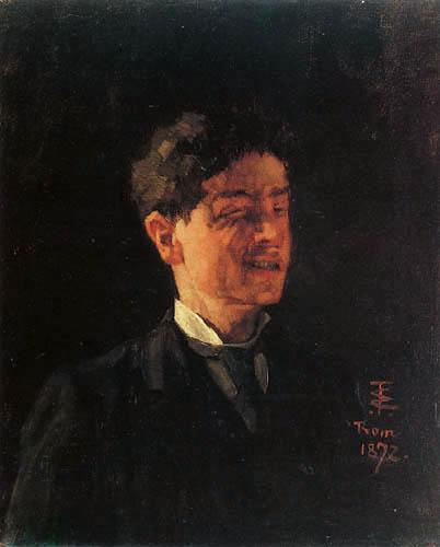 Wilhelm Trübner - Selfportrait