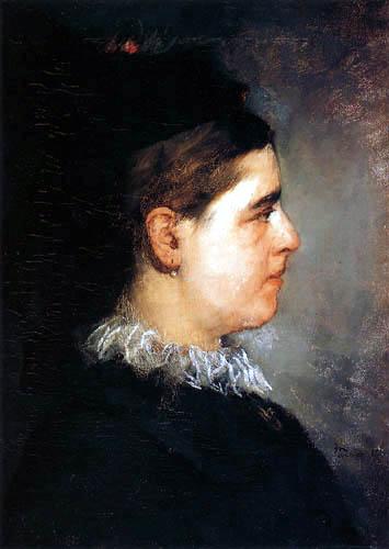 Wilhelm Trübner - Portrait of Georgine Hoffmeister