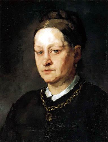 Wilhelm Trübner - Portrait of Anna Trübner