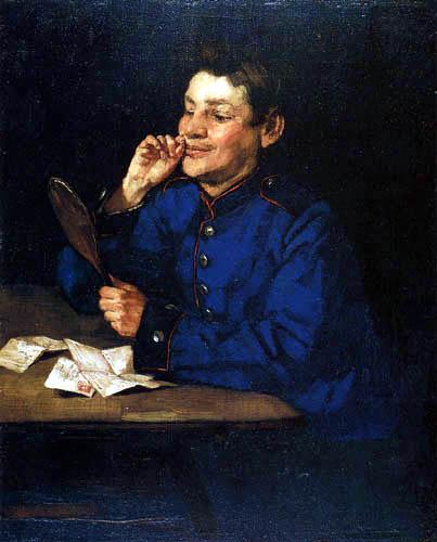 Wilhelm Trübner - Kanonier mit Handspiegel