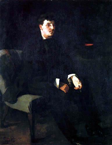 Wilhelm Trübner - Portrait of Carl Schuch