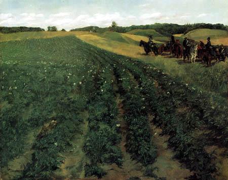 Wilhelm Trübner - Kartoffelacker in Wessling