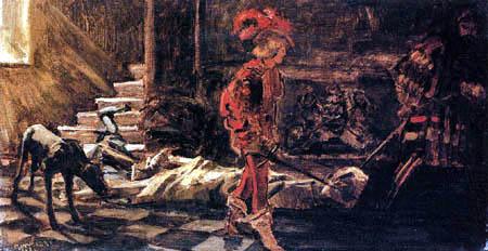 Wilhelm Trübner - The death of Alexander VI