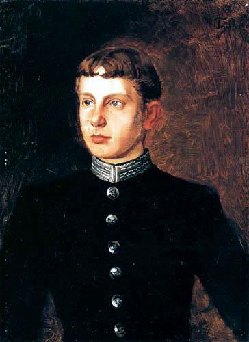 Wilhelm Trübner - Portrait of count Haupt zu Pappenheim