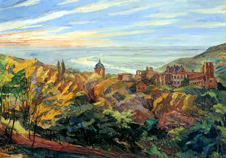 Wilhelm Trübner - Blick auf das Heidelberger Schloß