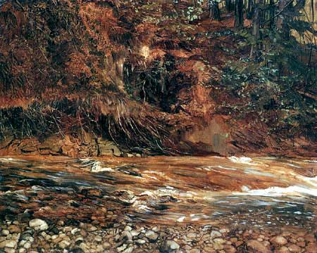 Wilhelm Trübner - Mountain Torrent, Prien