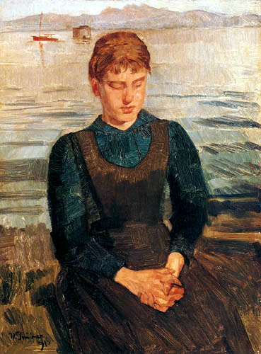 Wilhelm Trübner - Woman at the Chiemsee