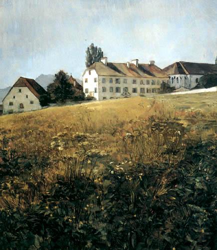 Wilhelm Trübner - On the meadow of the monastery