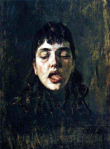 Wilhelm Trübner - The head of the Medusa