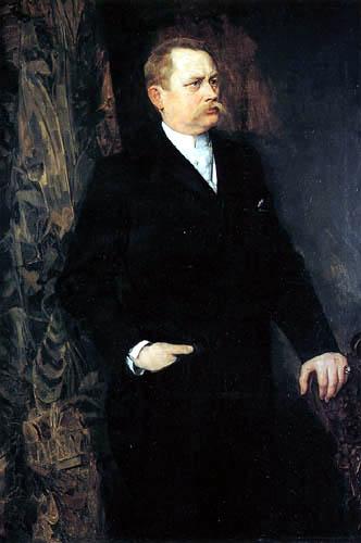 Wilhelm Trübner - Portrait of a man