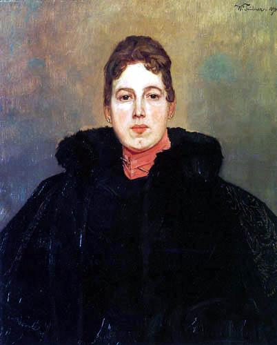 Wilhelm Trübner - Portrait of a woman