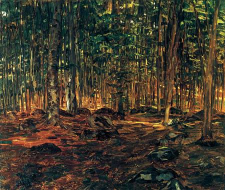 Wilhelm Trübner - In the forest
