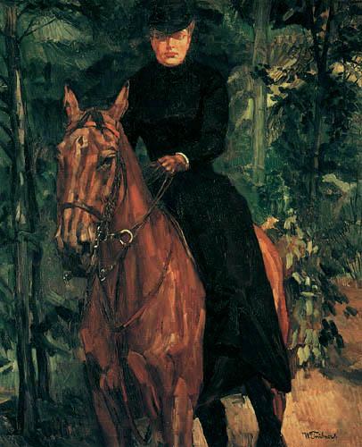 Wilhelm Trübner - Erna von Holzhausen equestrian