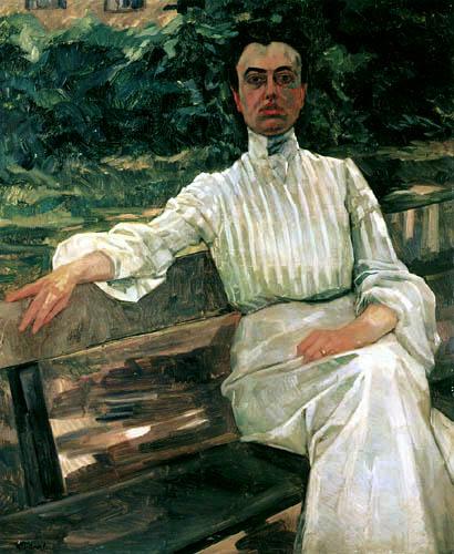 Wilhelm Trübner - Alice Trübner, the wife of the artist