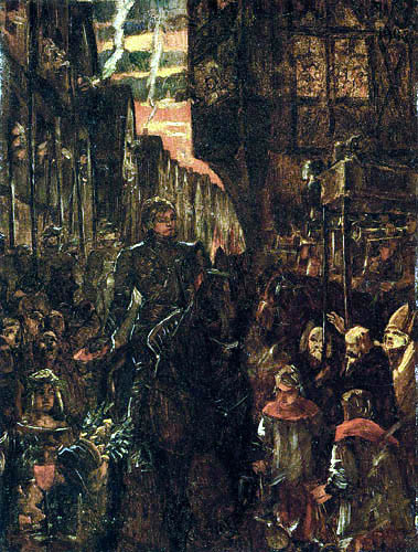 Wilhelm Trübner - The Invasion of Frederick I in Heidelberg
