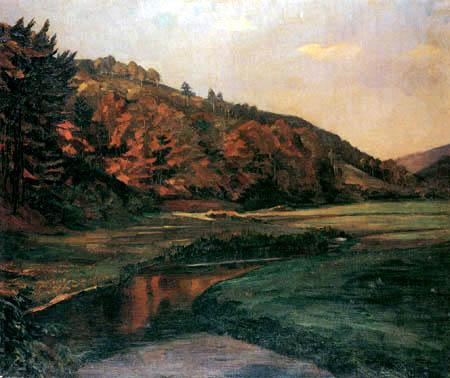 Wilhelm Trübner - Marbachtal im Odenwald