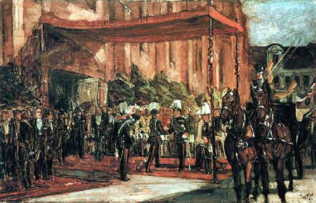 Wilhelm Trübner - Welcome of the german crown prince