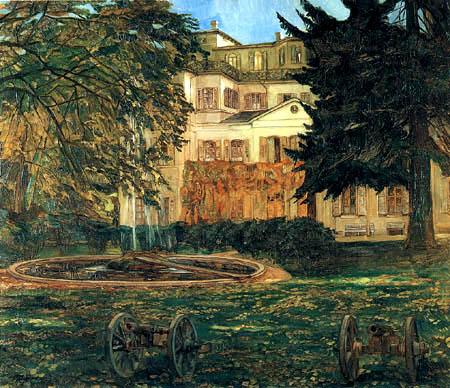 Wilhelm Trübner - View of the castle Hemsbach