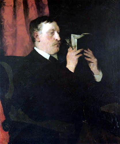 Wilhelm Trübner - The poet Martin Greif