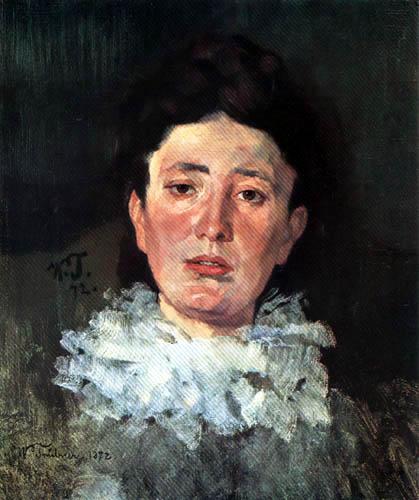 Wilhelm Trübner - Girl with ruff