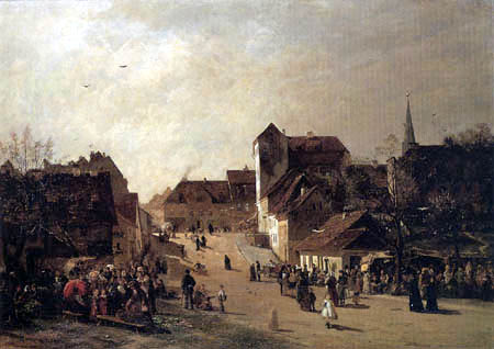 Paul Tübbecke - Markt am Jacobsplan in Weimar