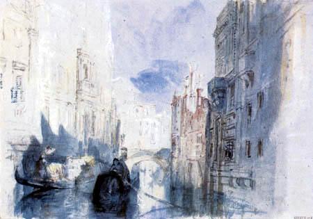 Joseph Mallord William Turner - A canal in Venice