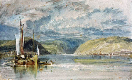 Joseph Mallord William Turner - Rüdesheim, Binger Loch