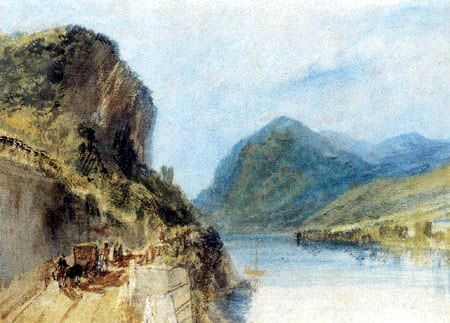 Joseph Mallord William Turner - Der Drachenfels