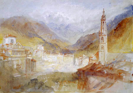 Joseph Mallord William Turner - Bolzano with the Dolomites in the background