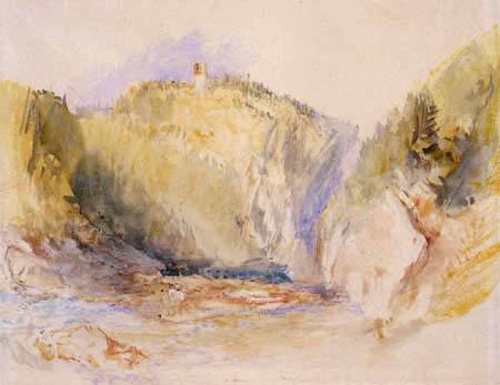 Joseph Mallord William Turner - Burg Reschenstein an der Ilz