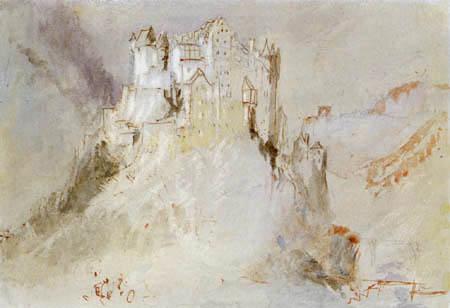 Joseph Mallord William Turner - Blick auf Burg Eltz