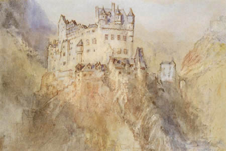 Joseph Mallord William Turner - View of the castle of Eltz