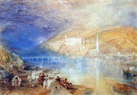 Joseph Mallord William Turner - Heidelberg im Sonnenuntergang