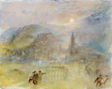 Joseph Mallord William Turner - Heidelberg im Mondlicht