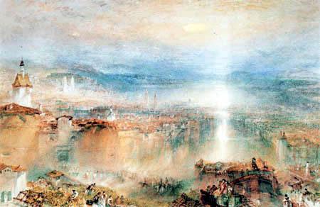 Joseph Mallord William Turner - Blick auf Zürich