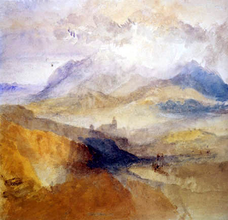 Joseph Mallord William Turner - View of a Alpinevalley